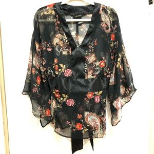 Lane Bryant sheer flowy blouse size 14/16